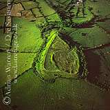 Aerial picture of Brent Knoll hill fort, Somerset